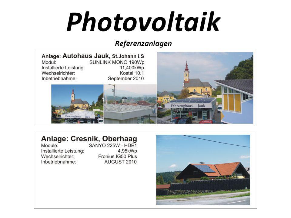 Photovoltaik Referenzanlagen