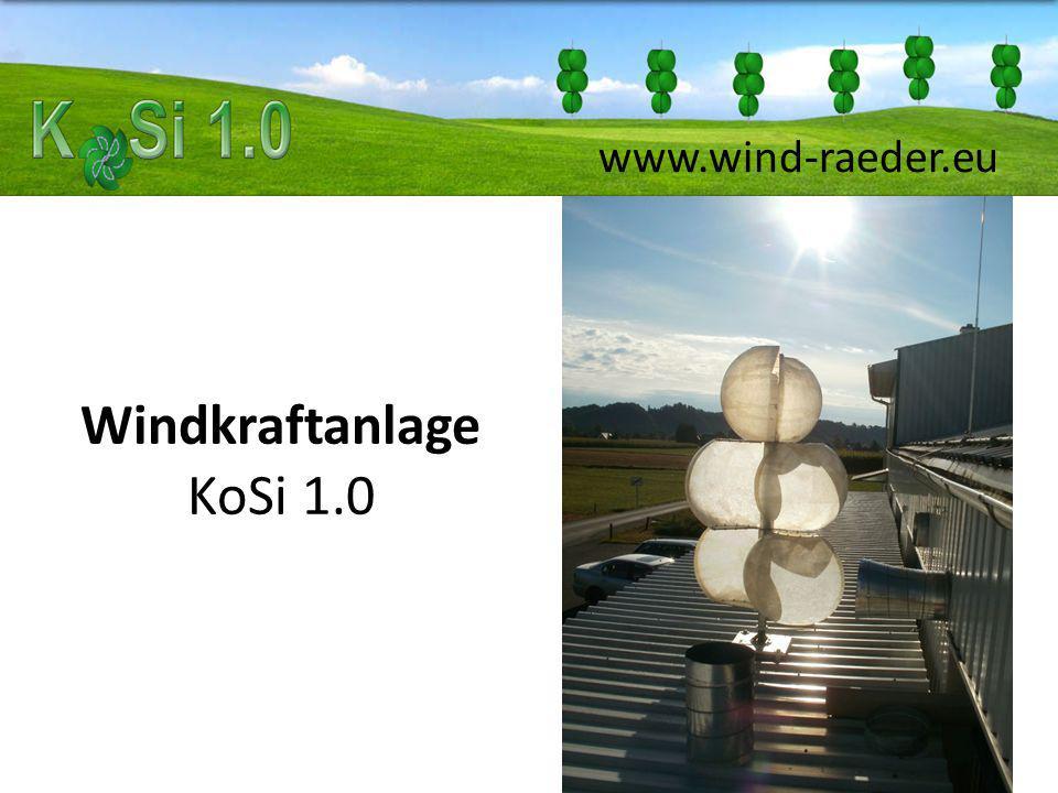 Windkraftanlage KoSi 1.0 www.wind-raeder.eu