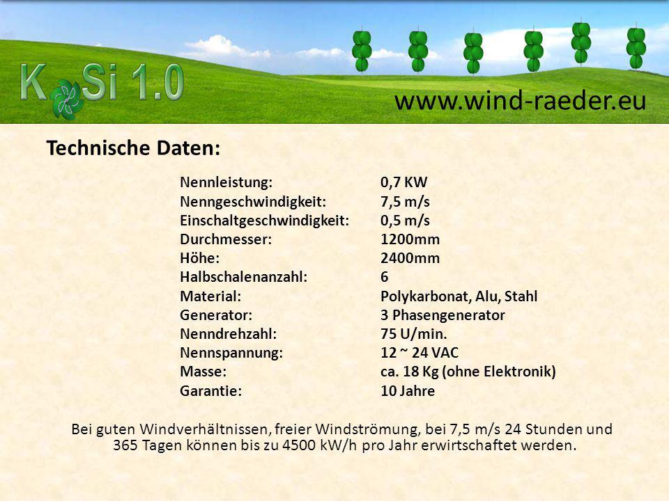 Technische Daten: Nennleistung: 0,7 KW Nenngeschwindigkeit: 7,5 m/s Einschaltgeschwindigkeit:0,5 m/s Durchmesser:1200mm Höhe:2400mm Halbschalenanzahl: