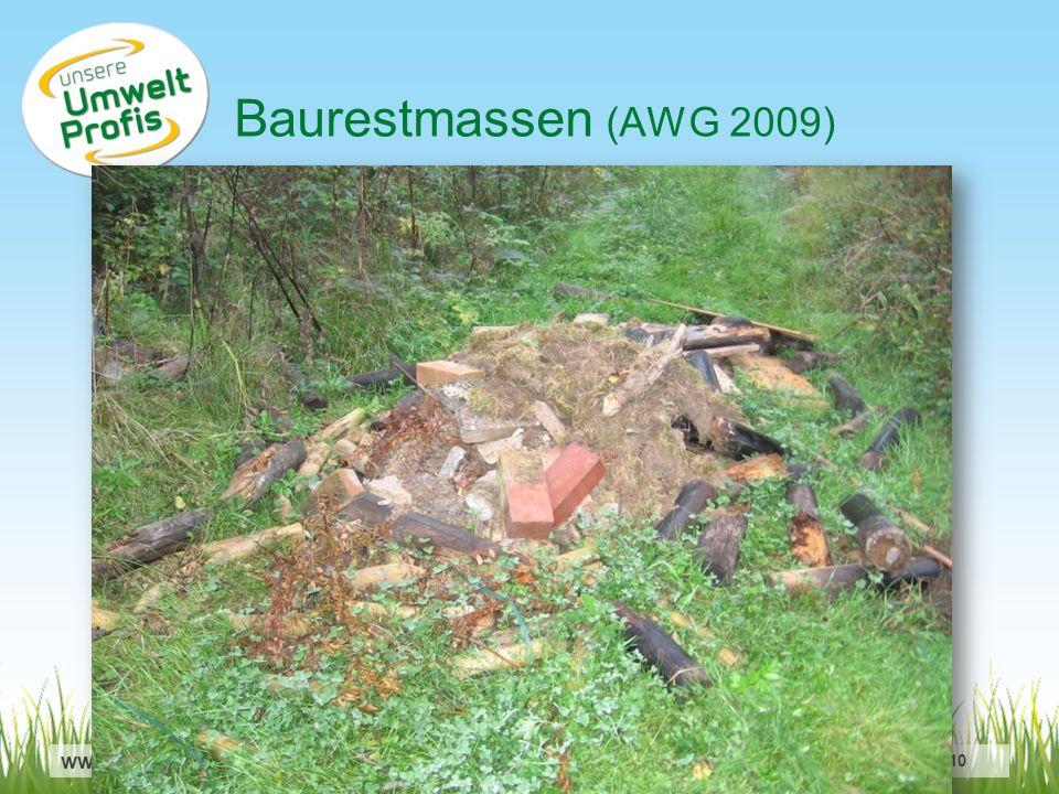 www.umweltprofis.at/ried TechnoZ-Ried, 22.6.2010 Baurestmassen (AWG 2009)