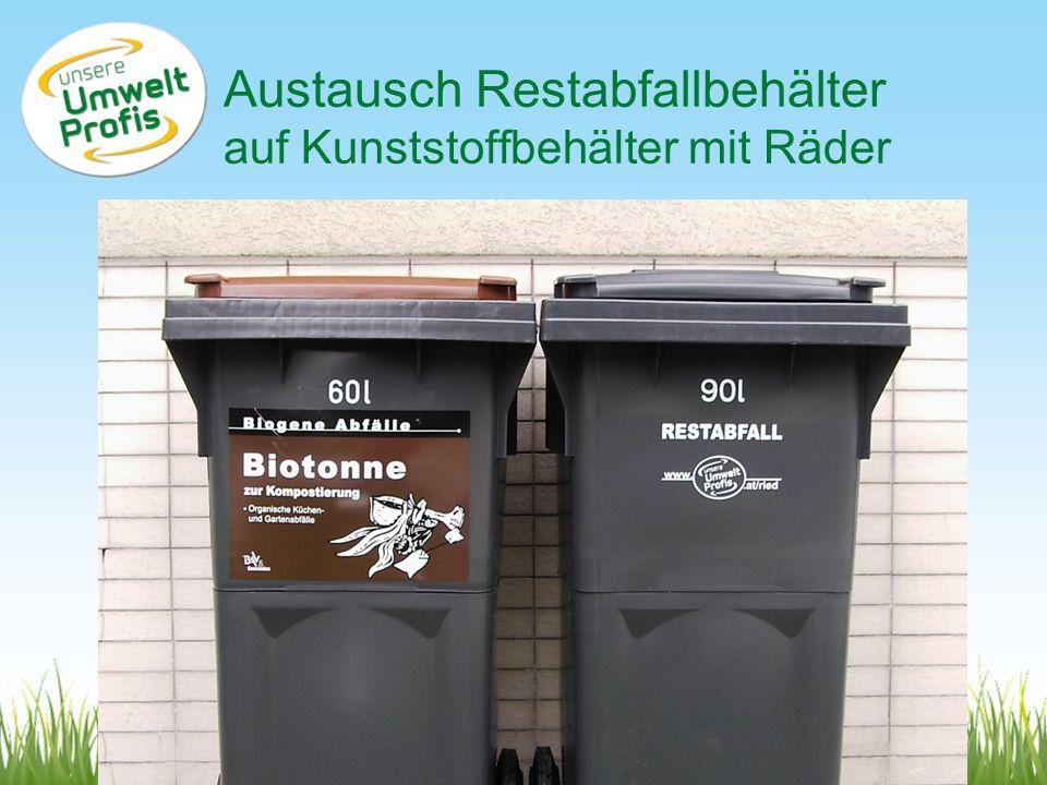 www.umweltprofis.at/ried Gebührengestaltung (Jahresgebühr) TechnoZ-Ried, 22.6.2010 Fixe Grundgebühr je Haushalt60,-/a ASZ, Sperrmüll, Holz, Container, sonst.