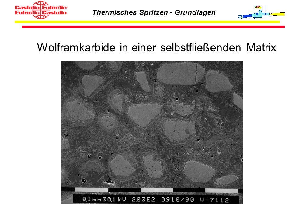 Thermisches Spritzen - Grundlagen Wolframkarbide in einer selbstfließenden Matrix