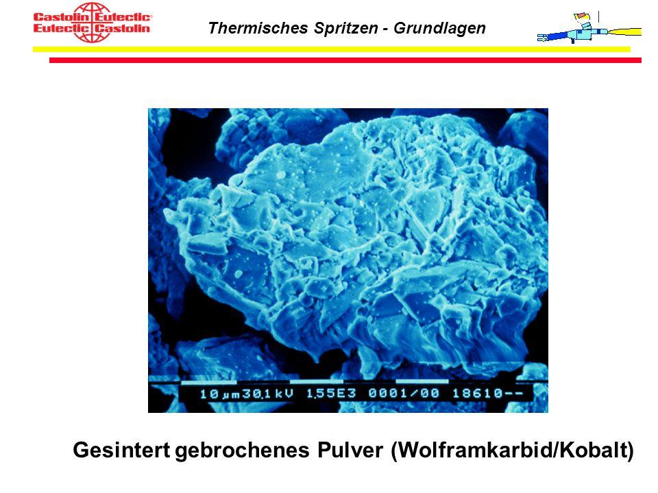 Thermisches Spritzen - Grundlagen Gesintert gebrochenes Pulver (Wolframkarbid/Kobalt)