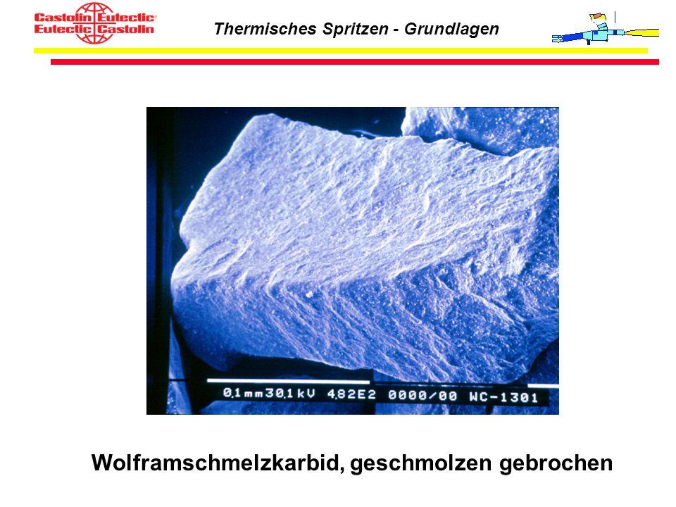 Thermisches Spritzen - Grundlagen Wolframschmelzkarbid, geschmolzen gebrochen
