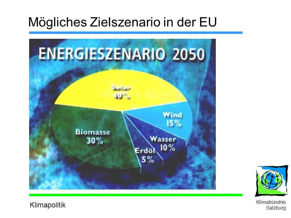 Klimapolitik Klimabündnis Salzburg Mögliches Zielszenario in der EU