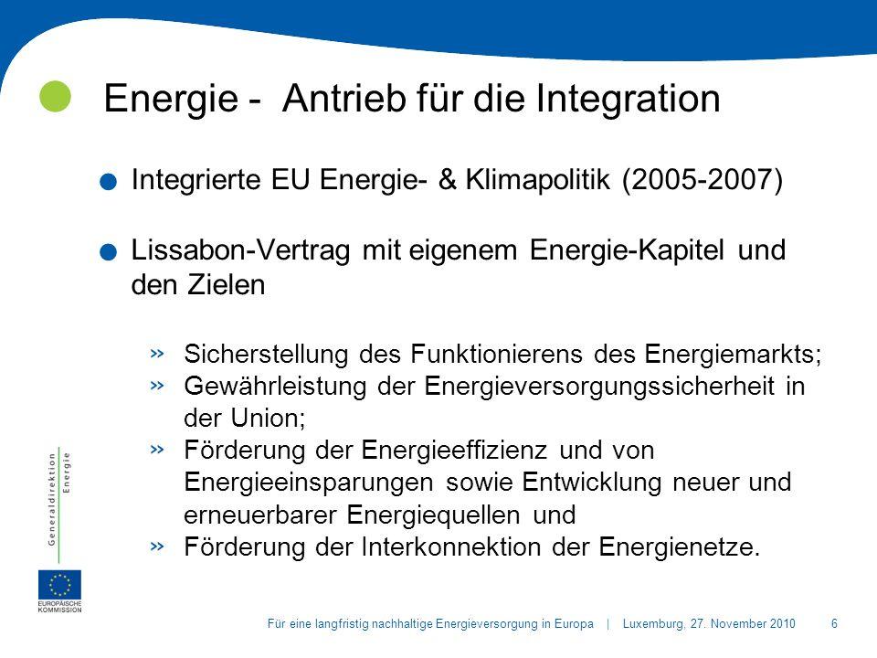 17Für eine langfristig nachhaltige Energieversorgung in Europa | Luxemburg, 27.