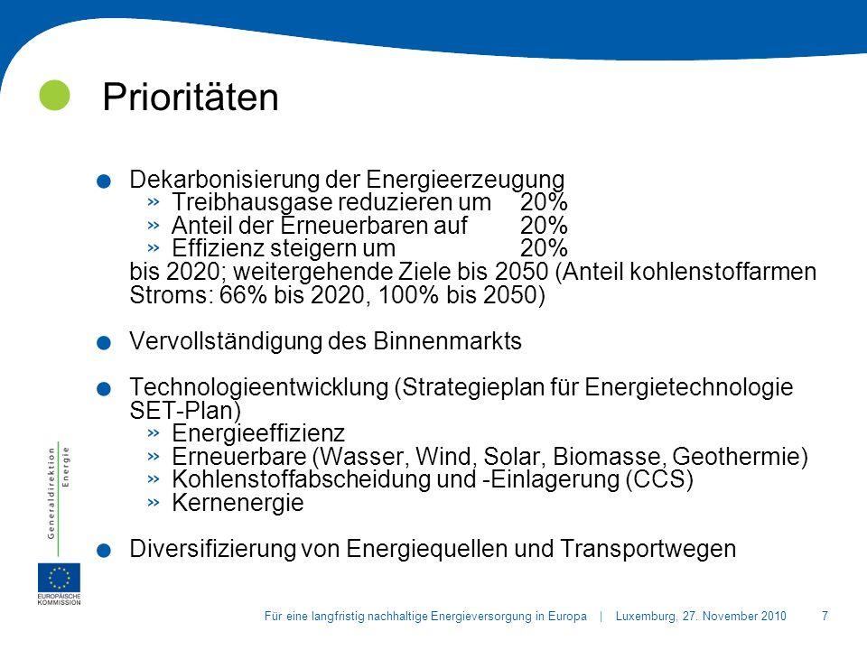 18Für eine langfristig nachhaltige Energieversorgung in Europa | Luxemburg, 27.