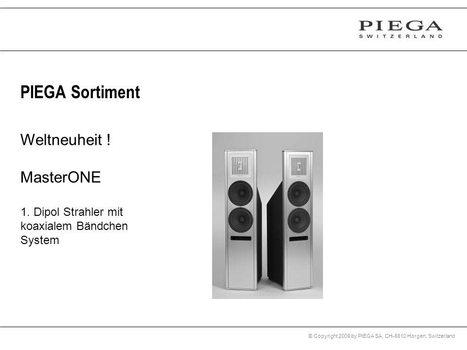 © Copyright 2009 by PIEGA SA, CH-8810 Horgen, Switzerland PIEGA Sortiment Weltneuheit ! MasterONE 1. Dipol Strahler mit koaxialem Bändchen System