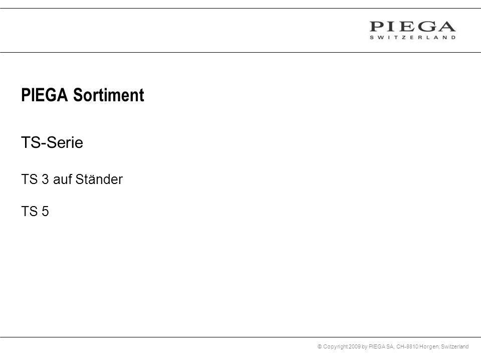 © Copyright 2009 by PIEGA SA, CH-8810 Horgen, Switzerland PIEGA Sortiment TS-Serie TS 3 auf Ständer TS 5