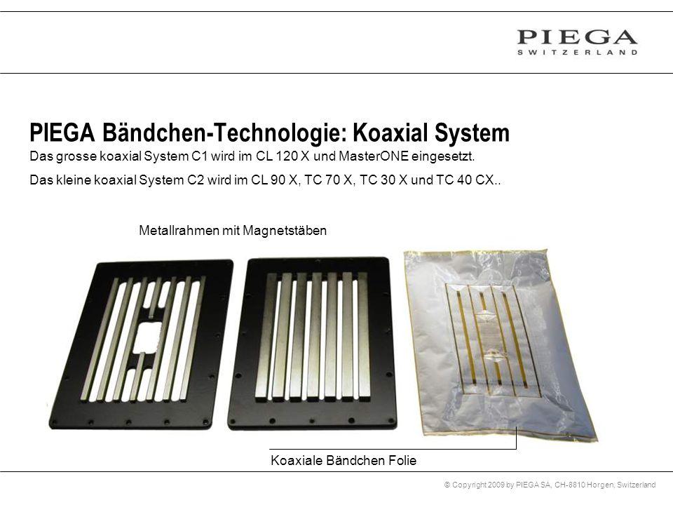 © Copyright 2009 by PIEGA SA, CH-8810 Horgen, Switzerland PIEGA Bändchen-Technologie: Koaxial System Das grosse koaxial System C1 wird im CL 120 X und