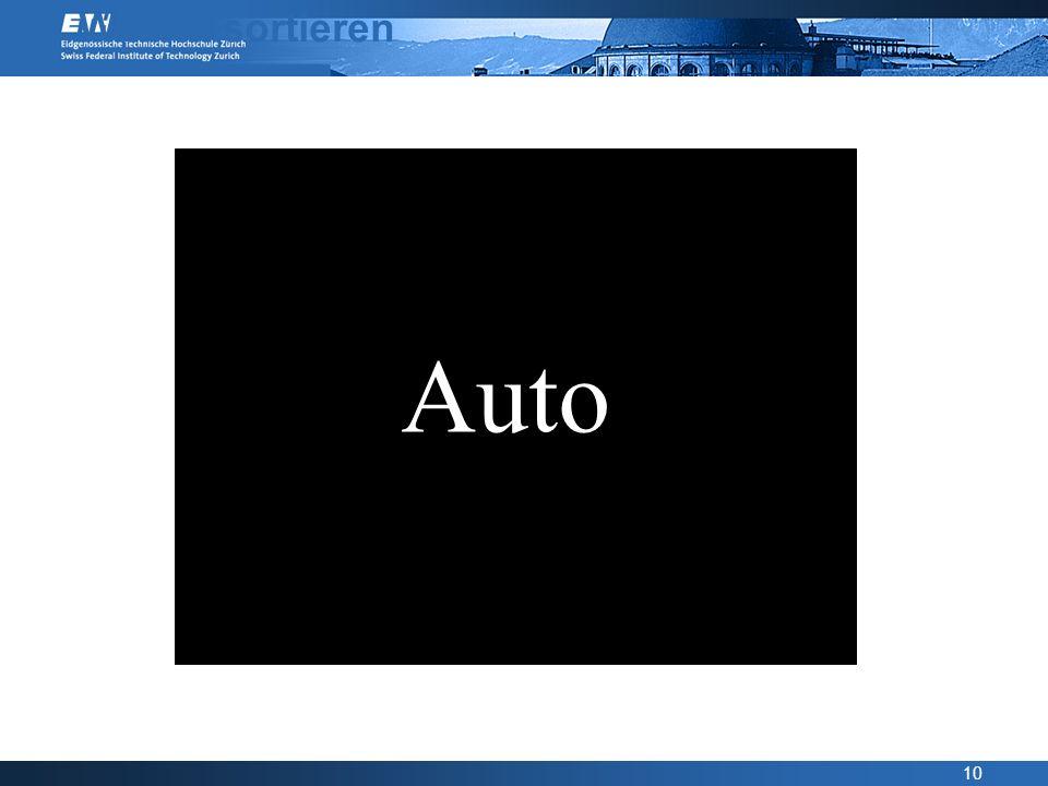10 Wörter sortieren Auto