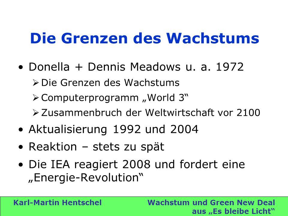 Karl-Martin Hentschel Wachstum und Green New Deal aus Es bleibe Licht Die Grenzen des Wachstums Donella + Dennis Meadows u.
