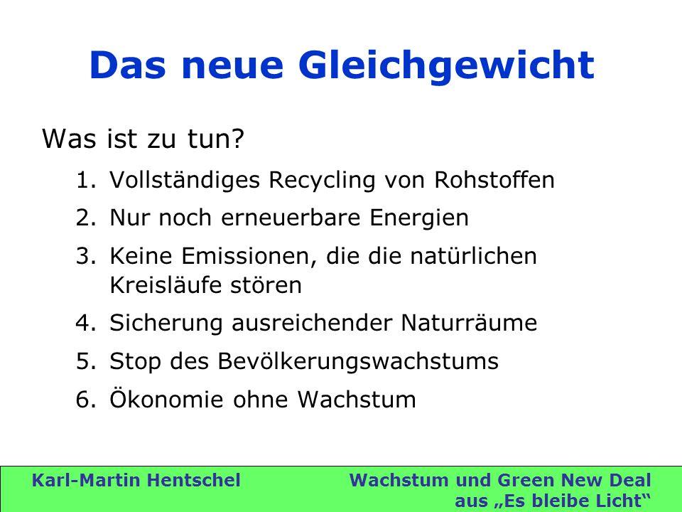 Karl-Martin Hentschel Wachstum und Green New Deal aus Es bleibe Licht Das neue Gleichgewicht Was ist zu tun.