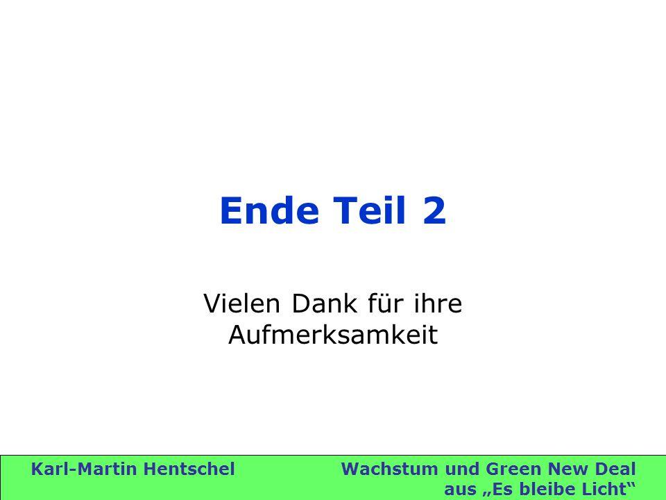 Karl-Martin Hentschel Wachstum und Green New Deal aus Es bleibe Licht Ende Teil 2 Vielen Dank für ihre Aufmerksamkeit