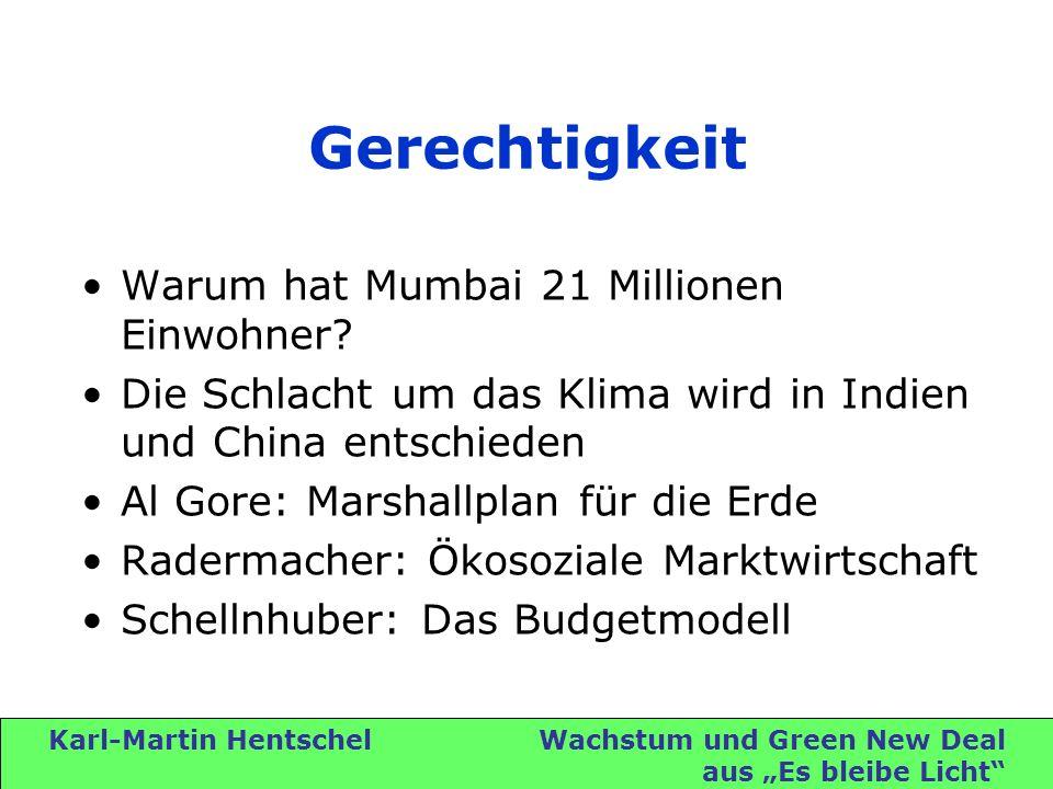 Karl-Martin Hentschel Wachstum und Green New Deal aus Es bleibe Licht Gerechtigkeit Warum hat Mumbai 21 Millionen Einwohner.