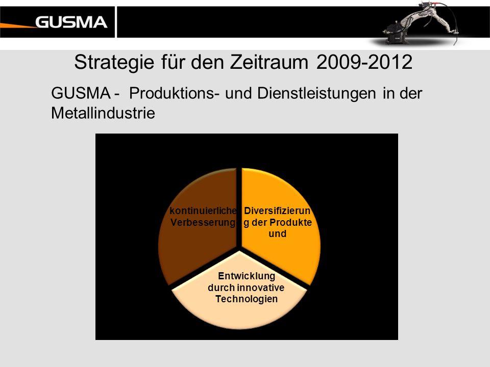 Strategie für den Zeitraum 2009-2012 GUSMA - Produktions- und Dienstleistungen in der Metallindustrie