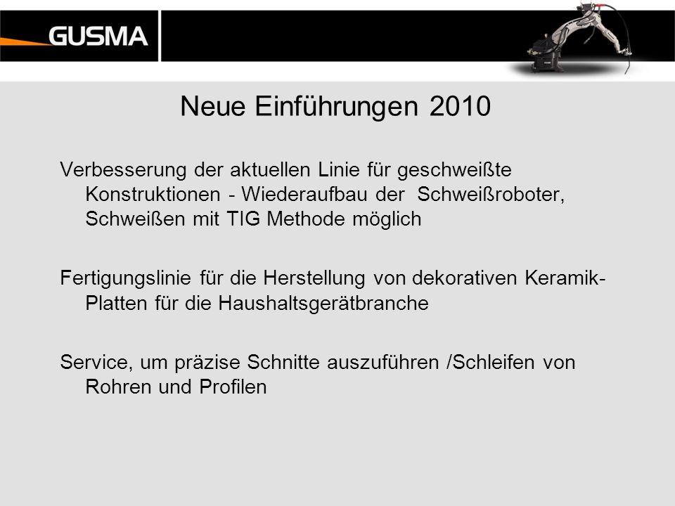 Neue Einführungen 2010 Verbesserung der aktuellen Linie für geschweißte Konstruktionen - Wiederaufbau der Schweißroboter, Schweißen mit TIG Methode mö