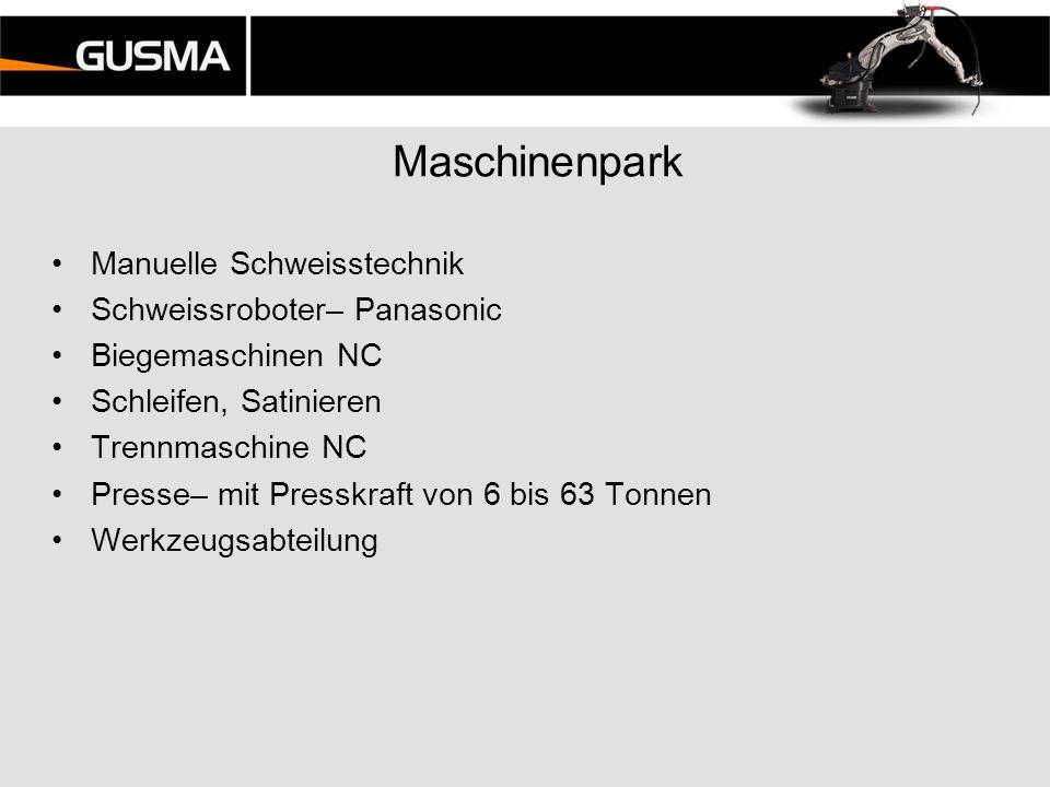 Maschinenpark Manuelle Schweisstechnik Schweissroboter– Panasonic Biegemaschinen NC Schleifen, Satinieren Trennmaschine NC Presse– mit Presskraft von