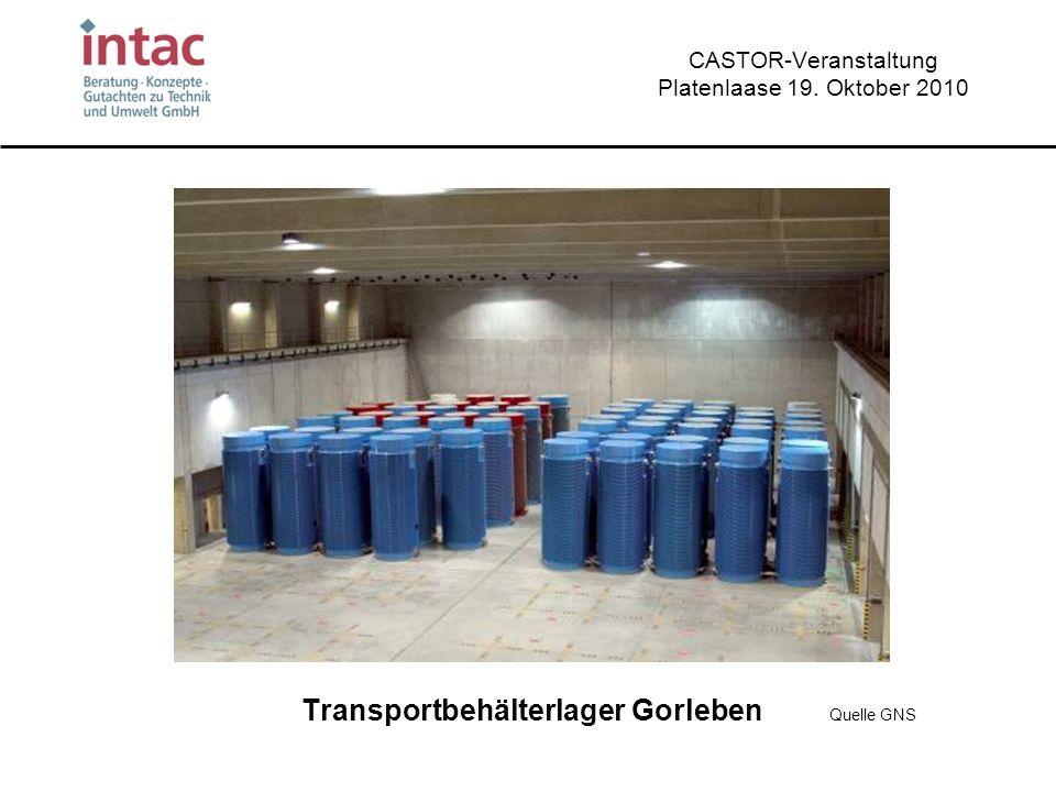 CASTOR-Veranstaltung Platenlaase 19. Oktober 2010 Transportbehälterlager Gorleben Quelle GNS