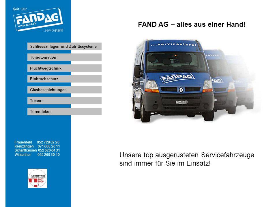 Wir arbeiten für Sie Frauenfeld 052 728 02 20 Kreuzlingen 071 688 20 11 Schaffhausen 052 620 04 31 Winterthur 052 269 30 10