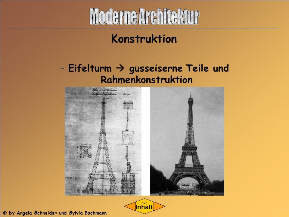 Konstruktion Inhalt - Eifelturm gusseiserne Teile und Rahmenkonstruktion -3- © by Angela Schneider und Sylvia Bachmann
