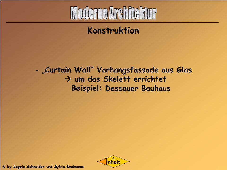 Konstruktion Inhalt - Curtain Wall Vorhangsfassade aus Glas um das Skelett errichtet Beispiel: Dessauer Bauhaus -4- © by Angela Schneider und Sylvia B