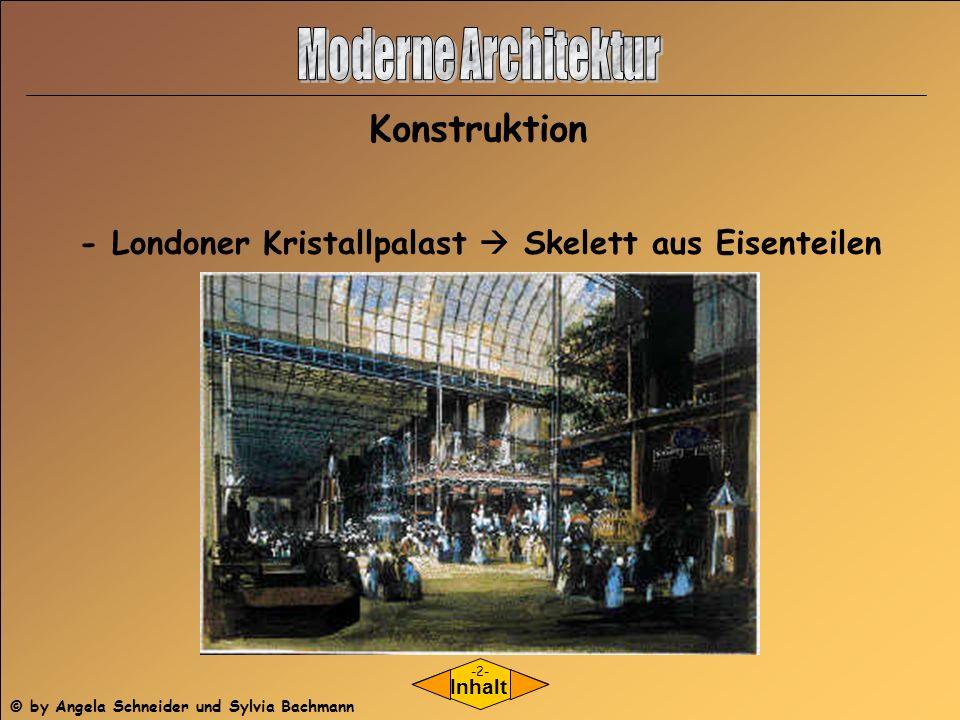 Konstruktion - Londoner Kristallpalast Skelett aus Eisenteilen Inhalt -2- © by Angela Schneider und Sylvia Bachmann