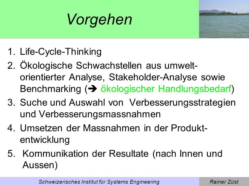 Rainer ZüstSchweizerisches Institut für Systems Engineering ECODESIGN PILOT CD-ROM [Wimmer, Züst (2002)] [www.ecodesign.at/pilot]