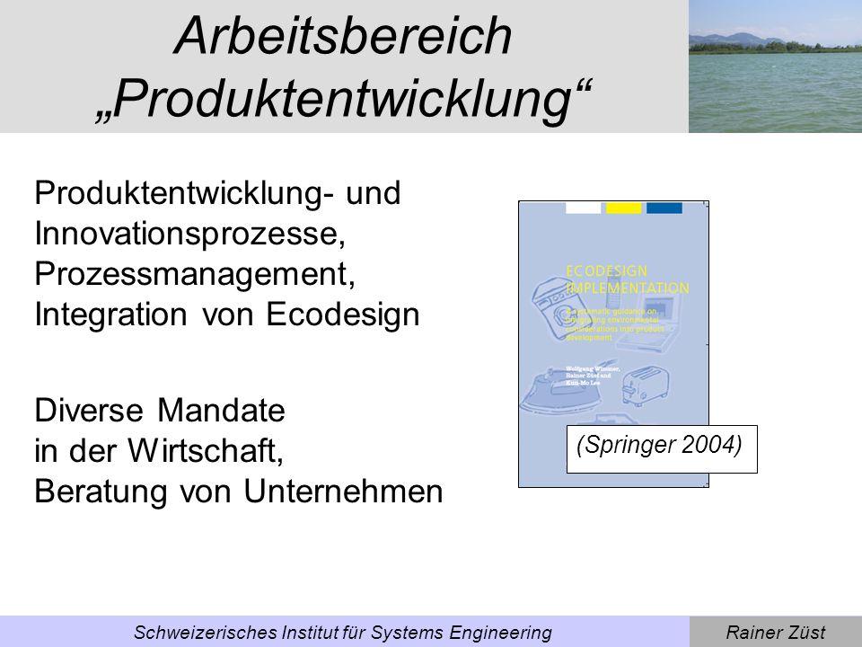Rainer ZüstSchweizerisches Institut für Systems Engineering Einstieg: Wachstumsfalle Bevölkerungswachstum Steigender Ressourcenverbrauch Zunahme an sozialen und gesellschaftlichen Konflikten