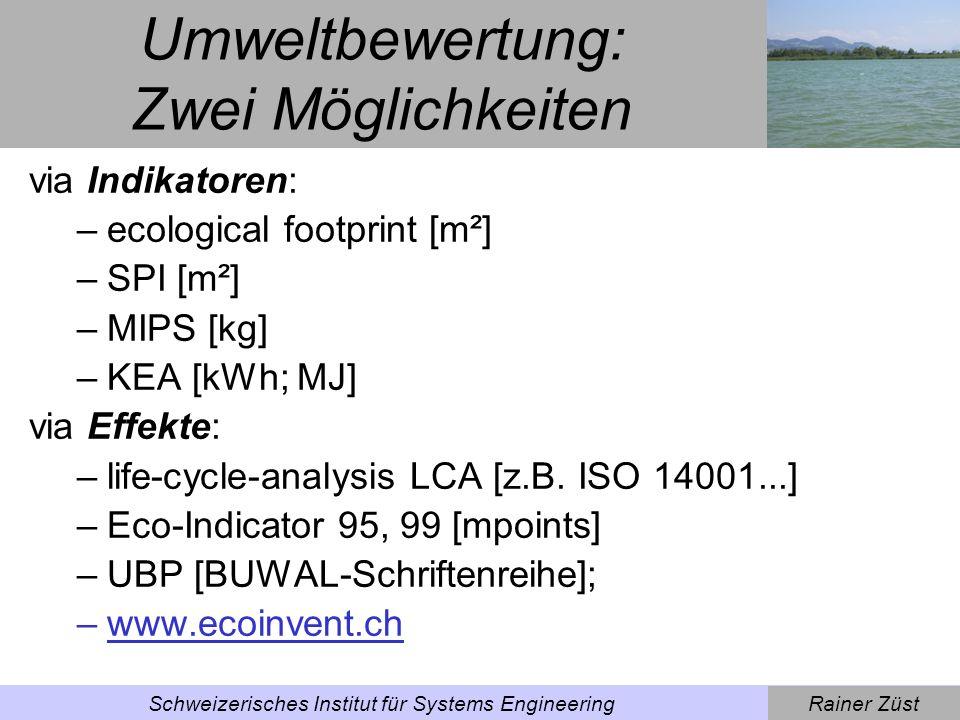 Rainer ZüstSchweizerisches Institut für Systems Engineering Schädigungs- und Berechnungsmodell [source: Pre Consultants B.V.]