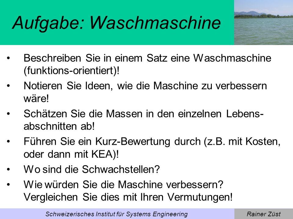 Rainer ZüstSchweizerisches Institut für Systems Engineering