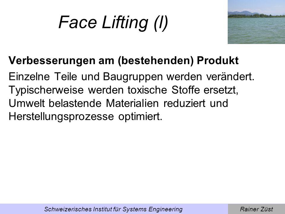 Rainer ZüstSchweizerisches Institut für Systems Engineering Beispiel Face Lifting Beispiel Aluminiumstuhl, bei dem durch die Verwendung von gerippten Blechen weniger Material verwendet wird.