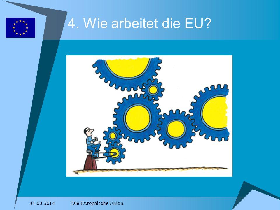 31.03.2014Die Europäische Union 4. Wie arbeitet die EU?