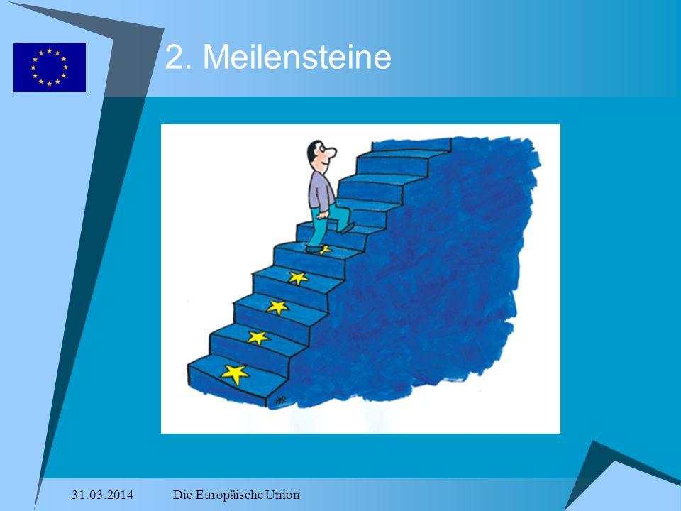 31.03.2014Die Europäische Union 2. Meilensteine