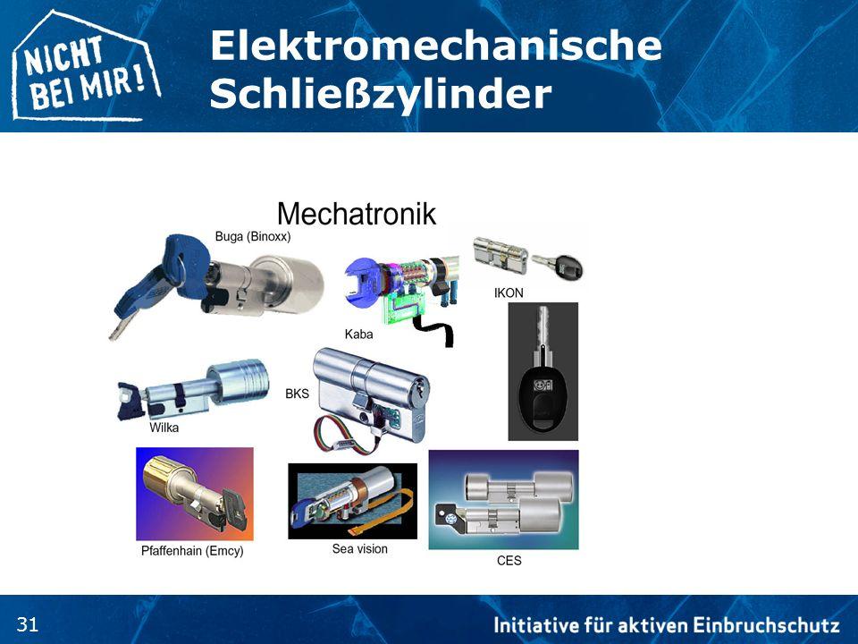 31 Elektromechanische Schließzylinder