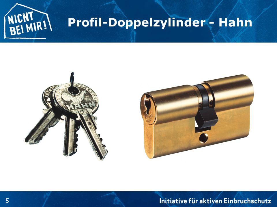 5 Profil-Doppelzylinder - Hahn