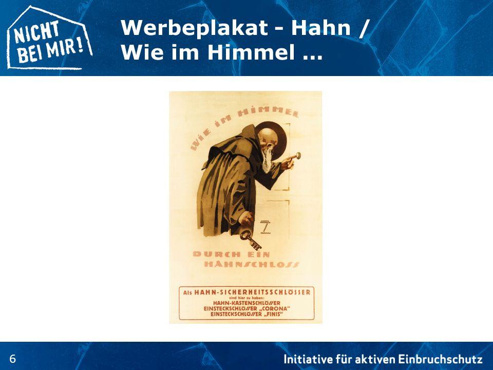 6 Werbeplakat - Hahn / Wie im Himmel...