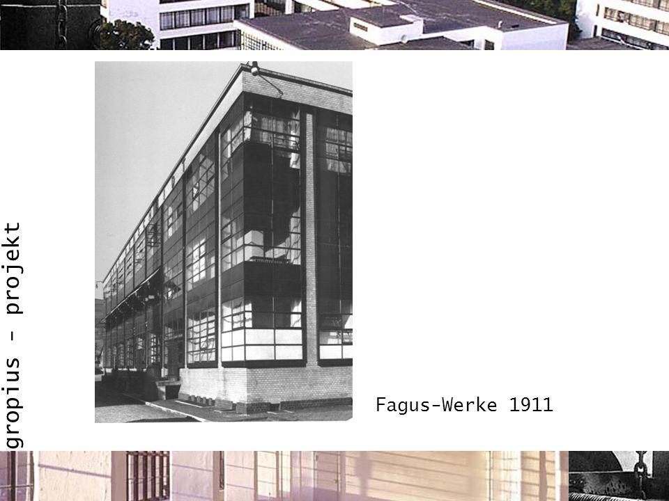 gropius - projekt Fagus-Werke 1911