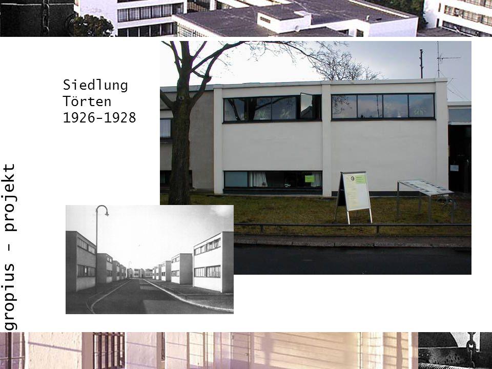 gropius - projekt Siedlung Törten 1926-1928