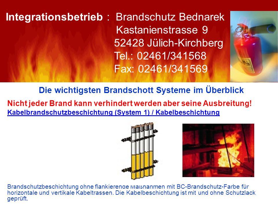 Die wichtigsten Brandschott Systeme im Überblick Nicht jeder Brand kann verhindert werden aber seine Ausbreitung! Kabelbrandschutzbeschichtung (System