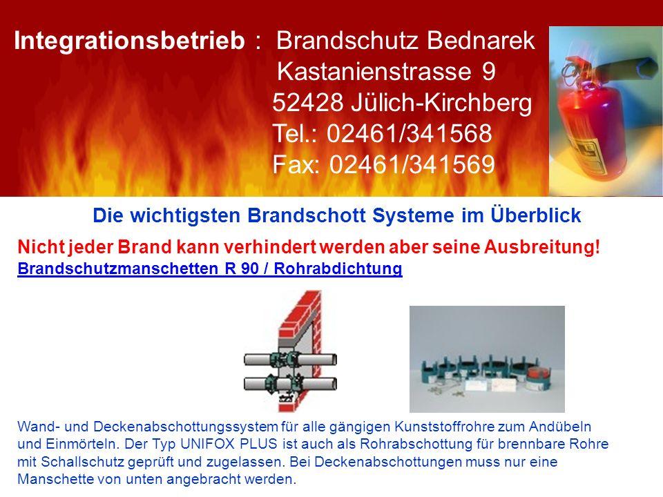 Die wichtigsten Brandschott Systeme im Überblick Nicht jeder Brand kann verhindert werden aber seine Ausbreitung! Brandschutzmanschetten R 90 / Rohrab