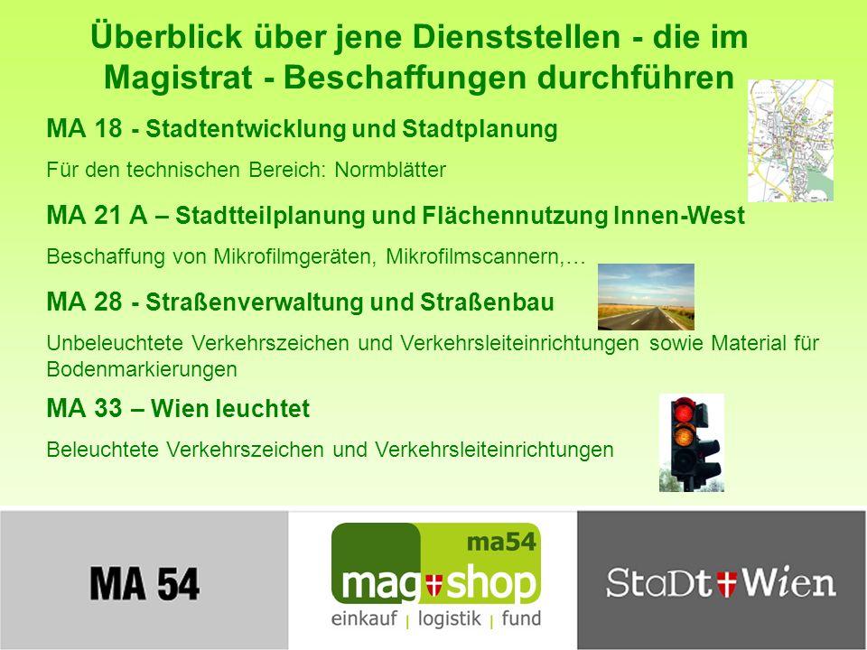 Einkaufen im Magistrat – Leistungen der MA 54 Folie 13 Wie läuft eine Beschaffung innerhalb der Stadt Wien ab.