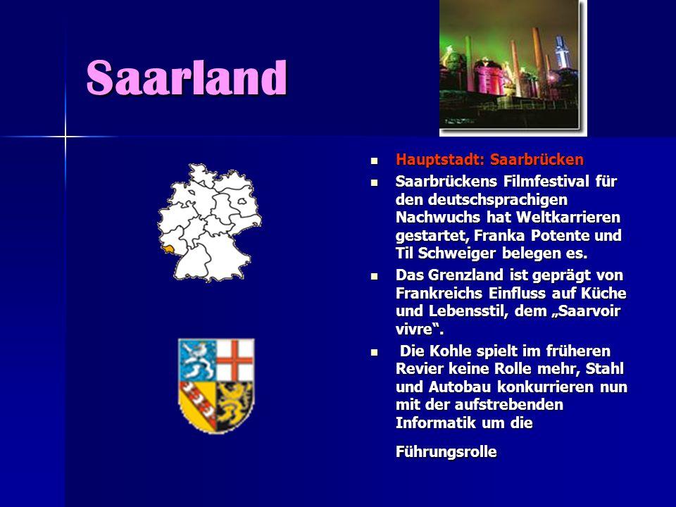 Saarland Hauptstadt: Saarbrücken Hauptstadt: Saarbrücken Saarbrückens Filmfestival für den deutschsprachigen Nachwuchs hat Weltkarrieren gestartet, Fr