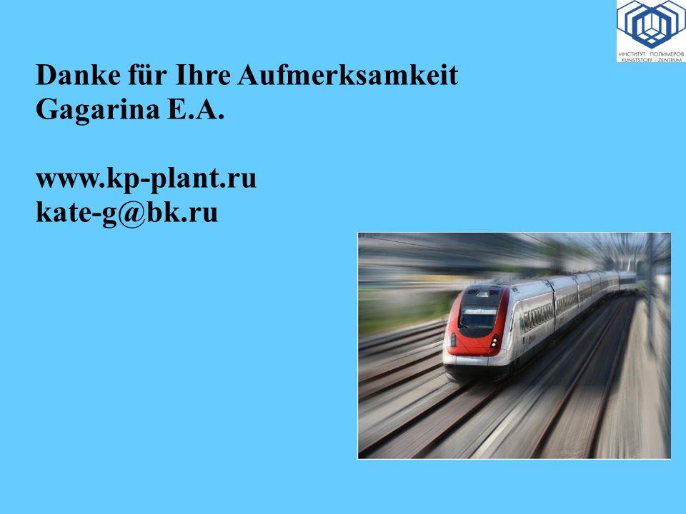 Danke für Ihre Aufmerksamkeit Gagarina Е.А. www.kp-plant.ru kate-g@bk.ru
