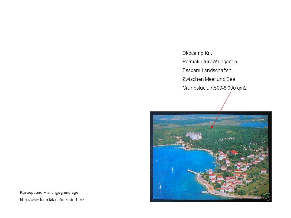 Ökocamp Krk Permakultur / Waldgarten Essbare Landschaften Zwischen Meer und See Grundstück: 7.500-8.000 qm2 Konzept und Planungsgrundlage http://www.turm-krk.de/oekodorf_krk