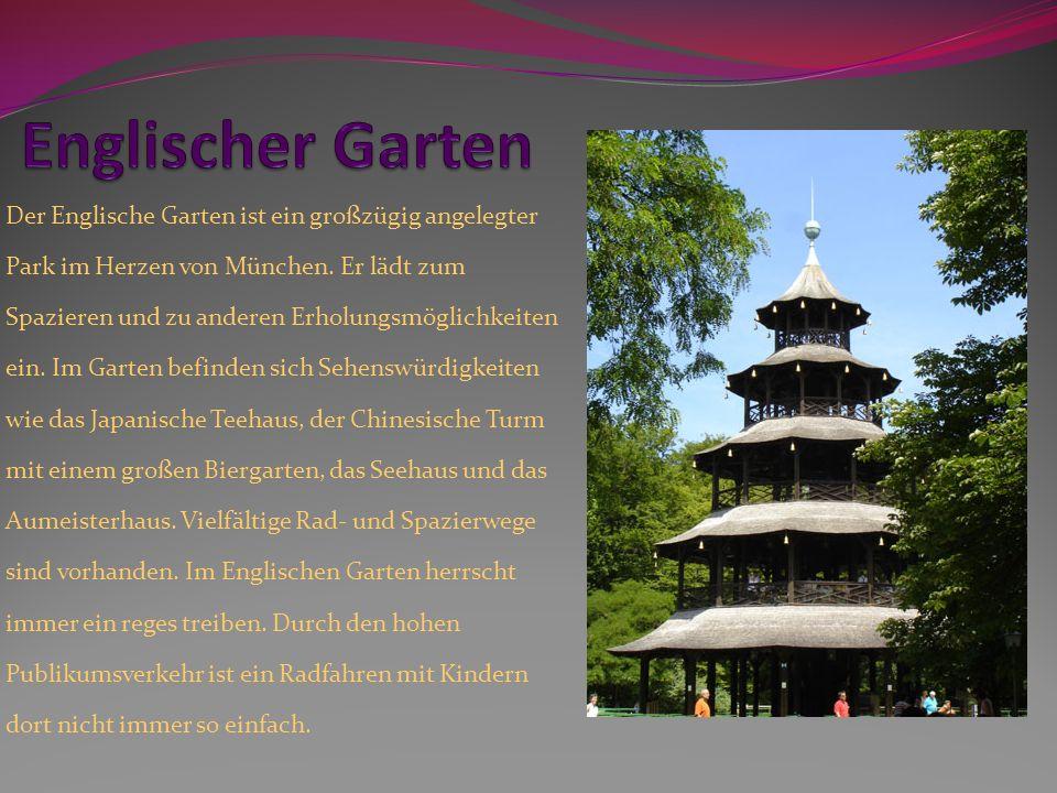 Der Englische Garten ist ein großzügig angelegter Park im Herzen von München. Er lädt zum Spazieren und zu anderen Erholungsmöglichkeiten ein. Im Gart