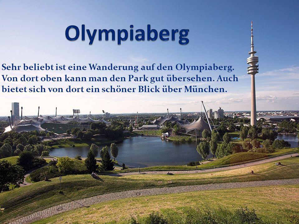 Sehr beliebt ist eine Wanderung auf den Olympiaberg. Von dort oben kann man den Park gut übersehen. Auch bietet sich von dort ein schöner Blick über M