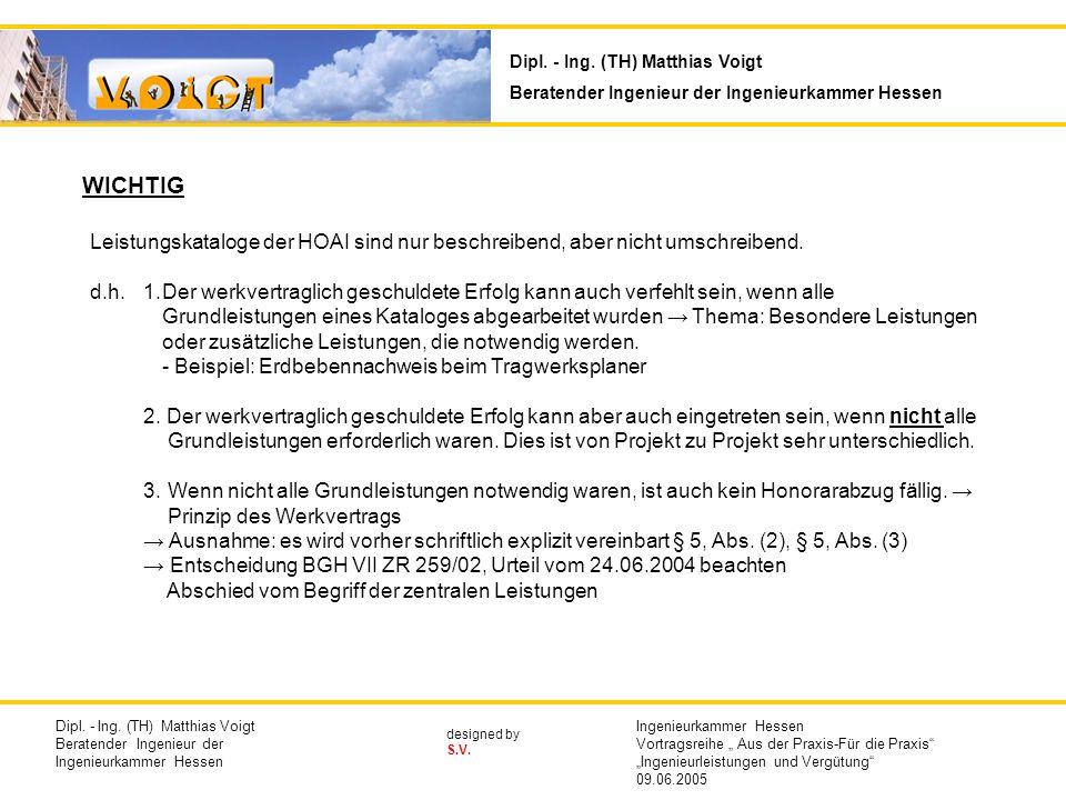 designed by S.V.WICHTIG Leistungskataloge der HOAI sind nur beschreibend, aber nicht umschreibend.