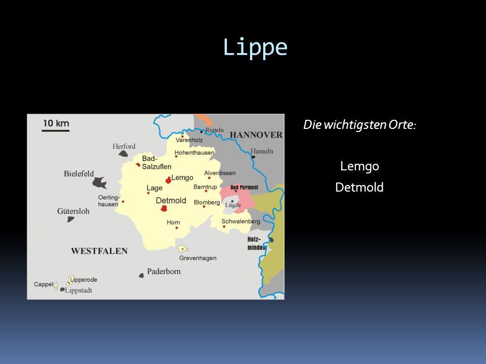 Die wichtigsten Orte: Lemgo Detmold Lippe