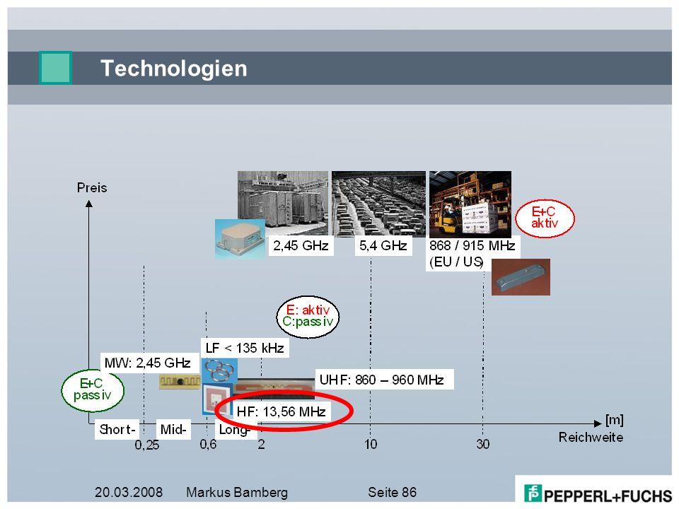 20.03.2008Markus BambergSeite 86 Technologien